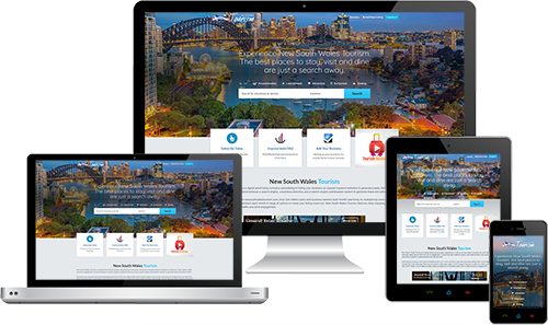 Accommodation NSW displayed beautifully on multiple devices