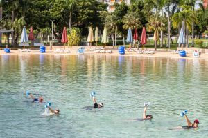 Aqua fitness in the Wave Lagoon - Accommodation NSW