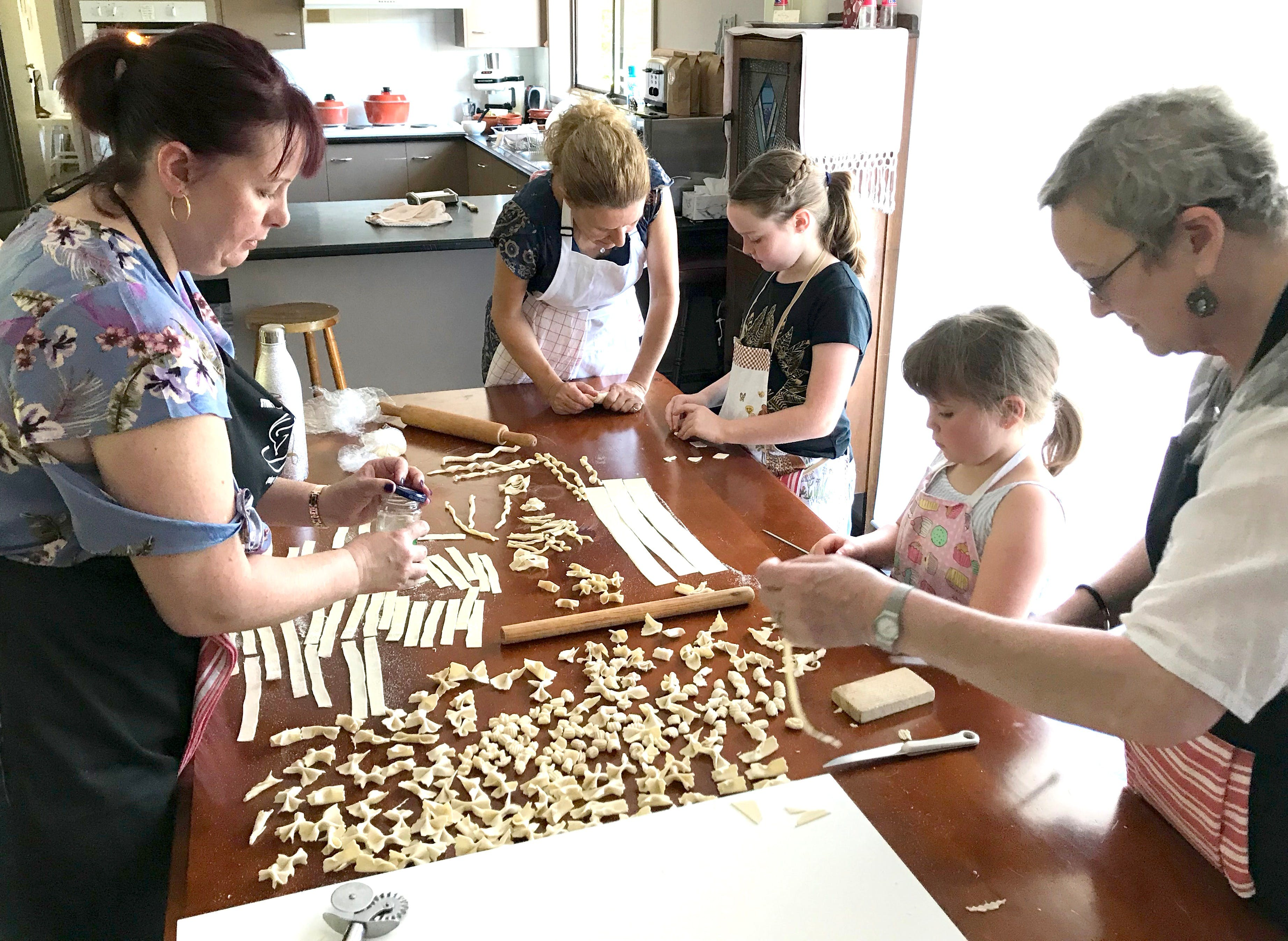 Kids Pasta Making Class - hands on fun at your house - Accommodation NSW